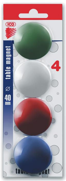 Magnety - průměr 40 mm / barevný mix / 4 ks