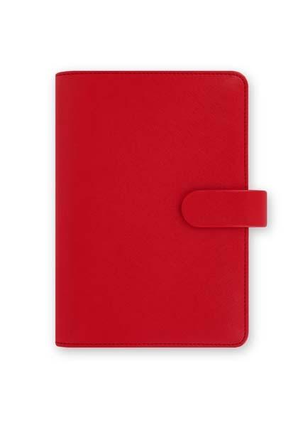 Filofax Saffiano A6 osobní týdenní červená