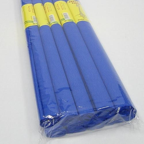 Krepový papír - role / 50 x 200 cm / modrá