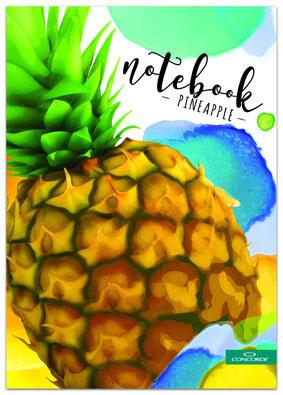 Kniha záznamní lepená Concorde - A4 / čtvereček / 100 listů