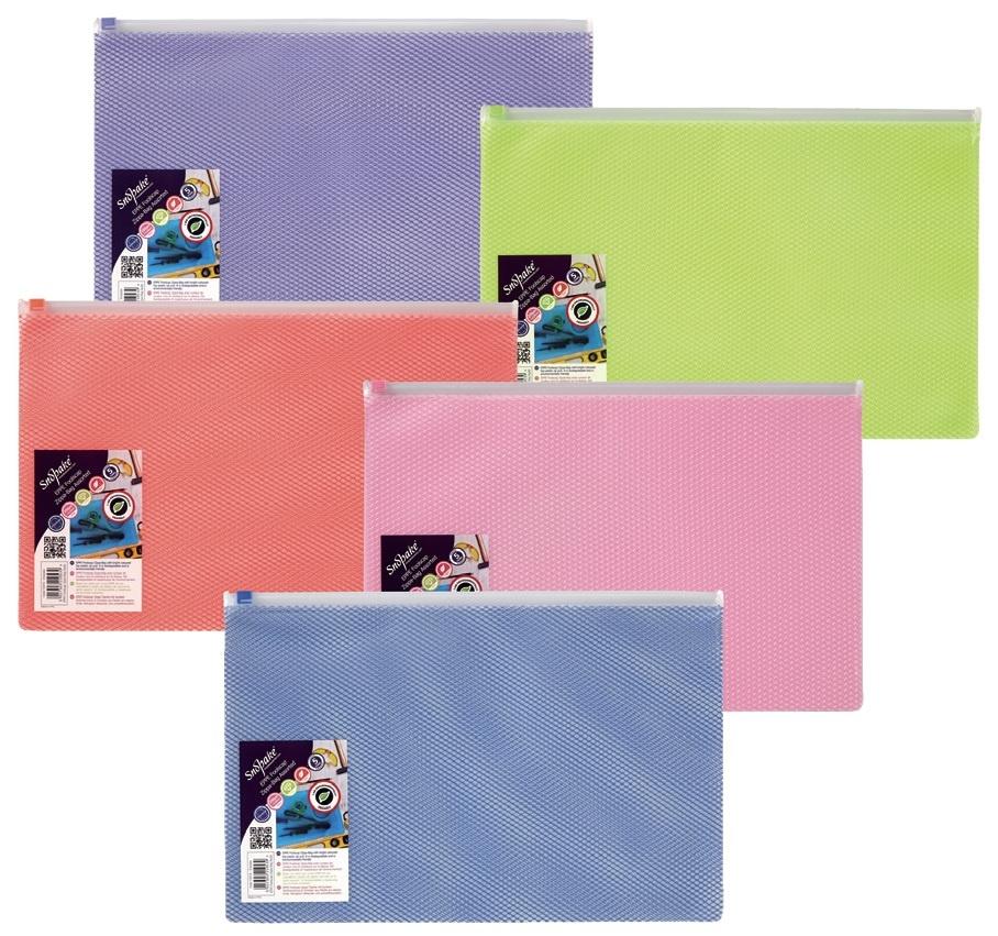 Spisové desky na zip Snopake EPPE Zippa -  A5 / barevný mix
