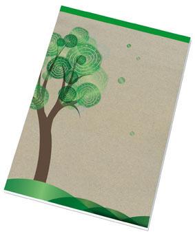 Blok šitý recyklovaný - A4 / čtvereček