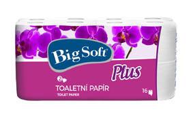 Toaletní papír Big Soft - Plus / 16 ks / dvouvrstvý
