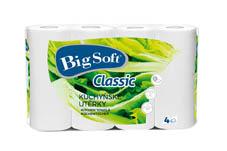Utěrky papírové v roli Big Soft - utěrky Big Soft dvouvrstvé Classic / 4 ks