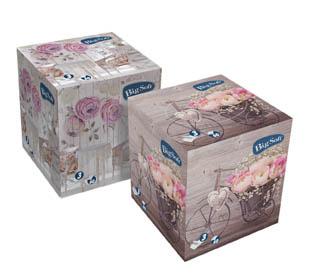 Kapesníčky papírové kosmetické Big Soft - třívrstvé / 60 ks