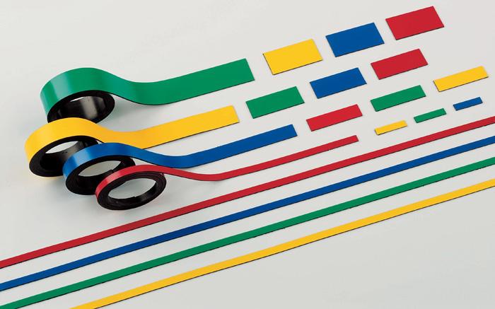 Magnetické pásky - 10 mm x 1 m / žlutá / 2 ks