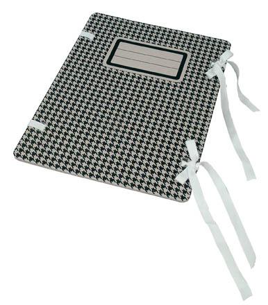 Spisové desky s tkanicí Emba s potiskem - černá