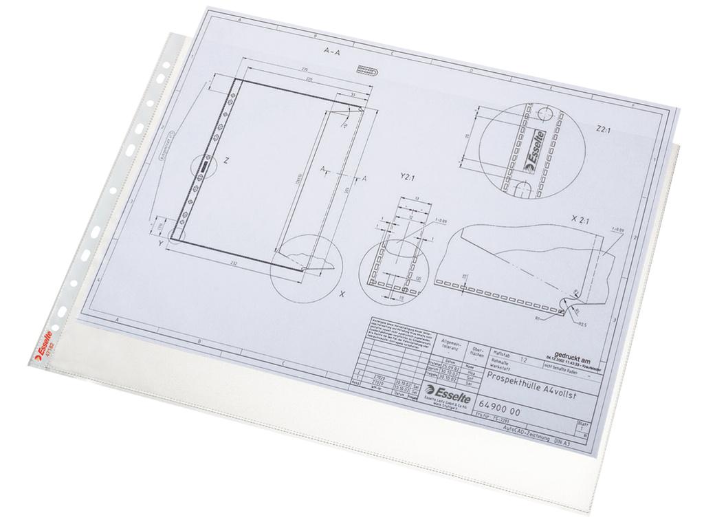 Závěsný obal Esselte Standard - A3 matný / 75 my / 50 ks