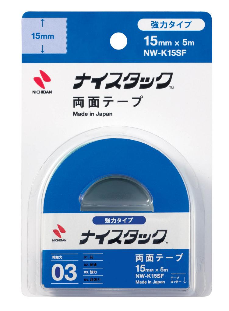 Lepicí pásky oboustranné Nichiban NICETACK - univerzální / 15 mm x 5 m
