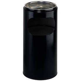 Stojanový popelník s mřížkou na nedopalky - černá / 10 l