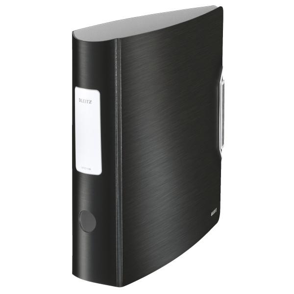 Pořadač A4 pákový celoplastový Leitz 180⁰  Active STYLE  - hřbet 7,5 mm / saténově černá