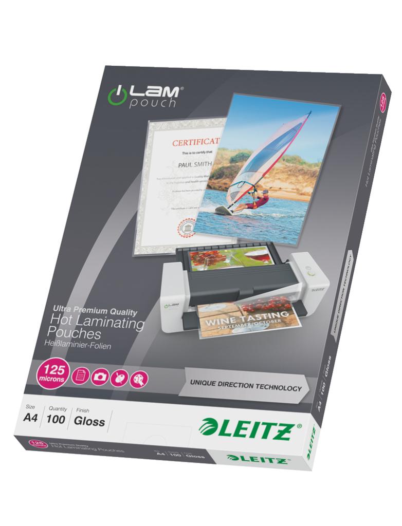 Laminovací pouzdra Leitz iLam - A4 125 mic / 100 ks
