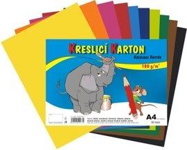 Barevný karton - A4 / 180 g / 60 listů / barevný mix