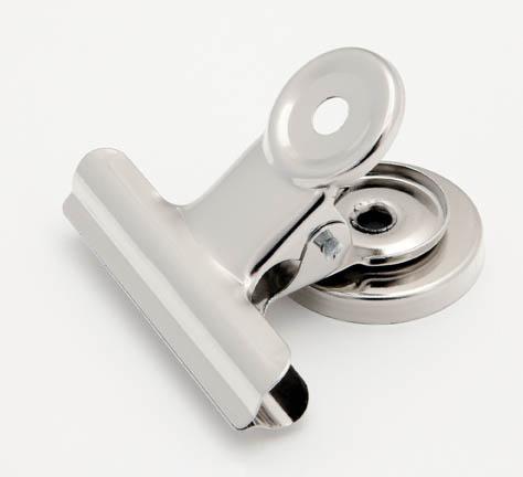 Klipy kovové stříbrné - 50 mm + magnet