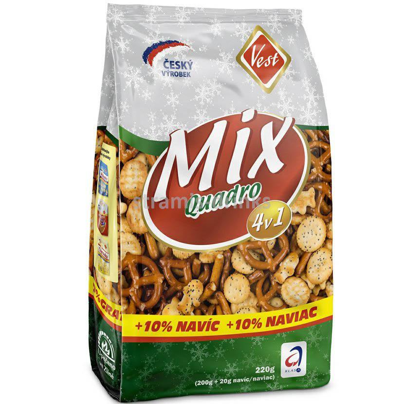 Sušenky Quadro - slaný mix / 200g
