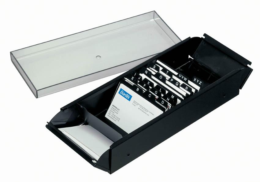 Zásobník na vizitky Bantex - černý / 600 ks vizitek