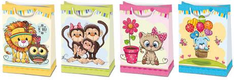 Tašky dárkové papírové dětské - XL / 34,5 x 48 cm