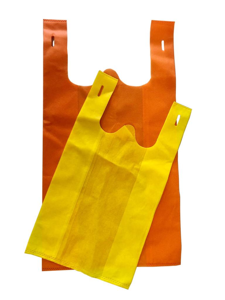 Tašky z netkané textilie - 25 x 45 cm / barevný mix
