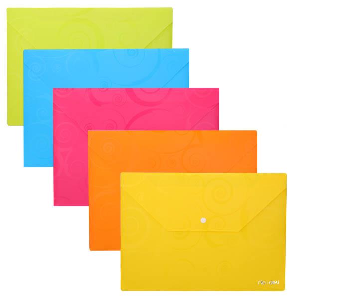 Spisové desky DELI Ornament s drukem - A4 / barevný mix