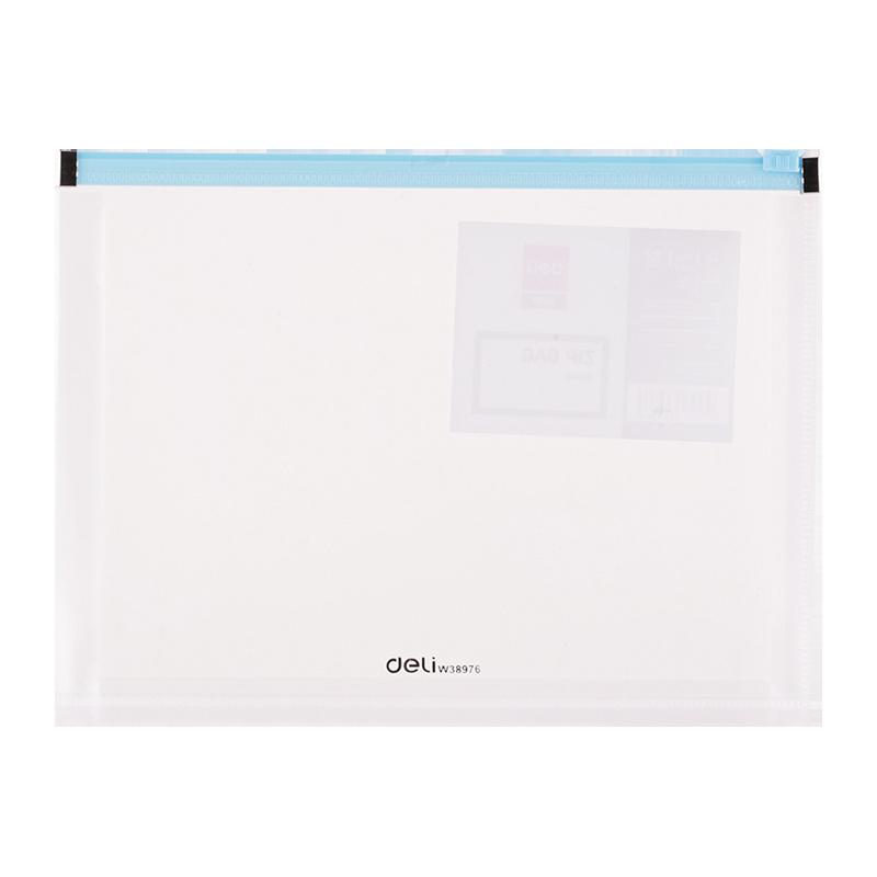 Spisové desky DELI Fashion na zip - A4 / barevný mix