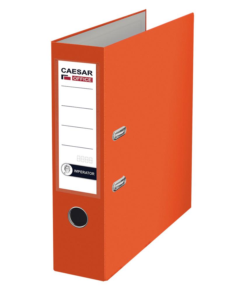 Pořadač A4 pákový Imperator - hřbet 7,5 cm / oranžový