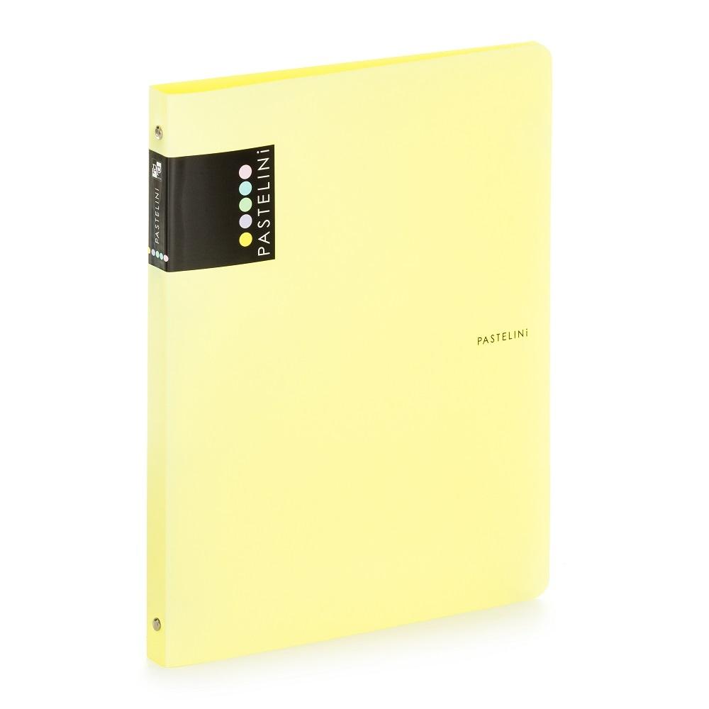 Desky A4 kroužkové PASTELINI - 4-kroužek / žlutá