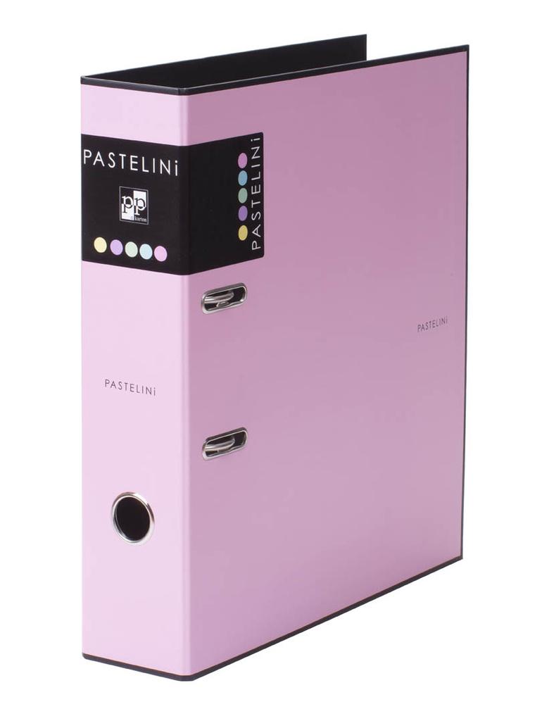 Pořadač A4 pákový PASTELINI - hřbet 7 cm / růžová