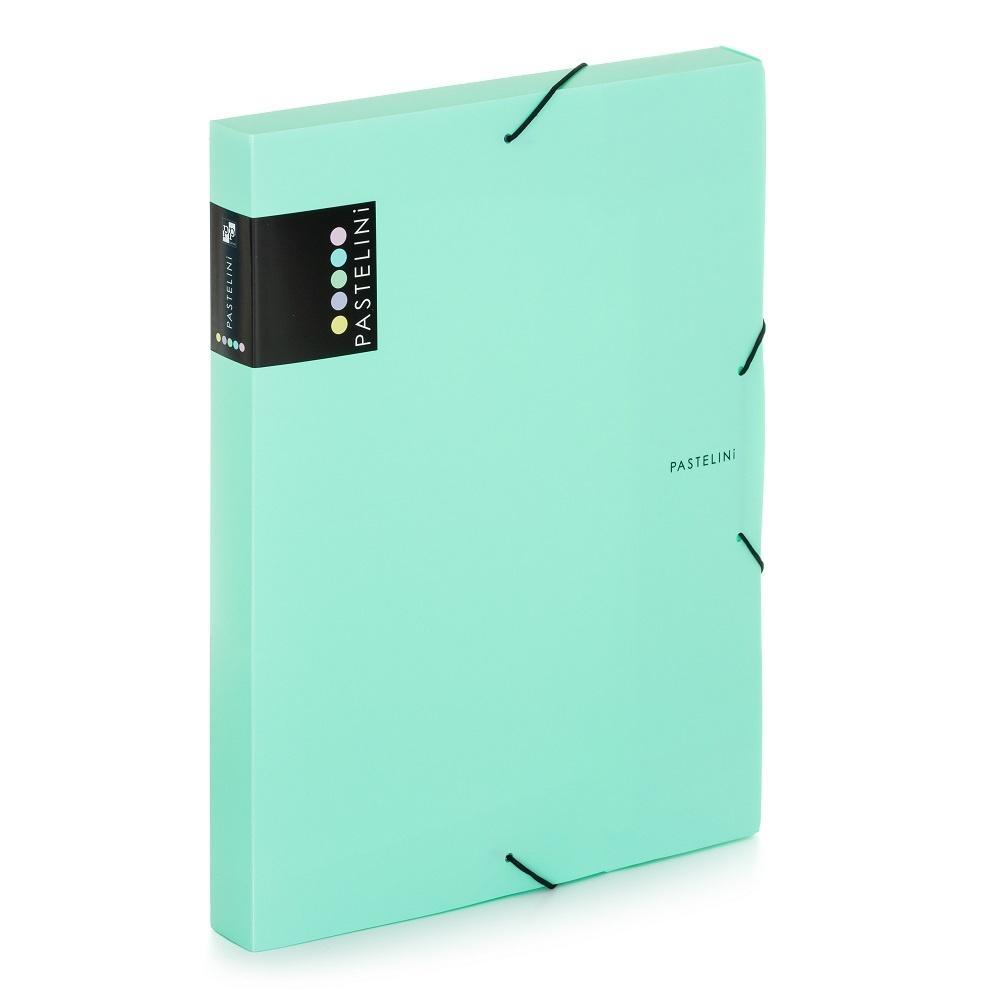 Box na spisy A4 s gumou PASTELINI - zelená