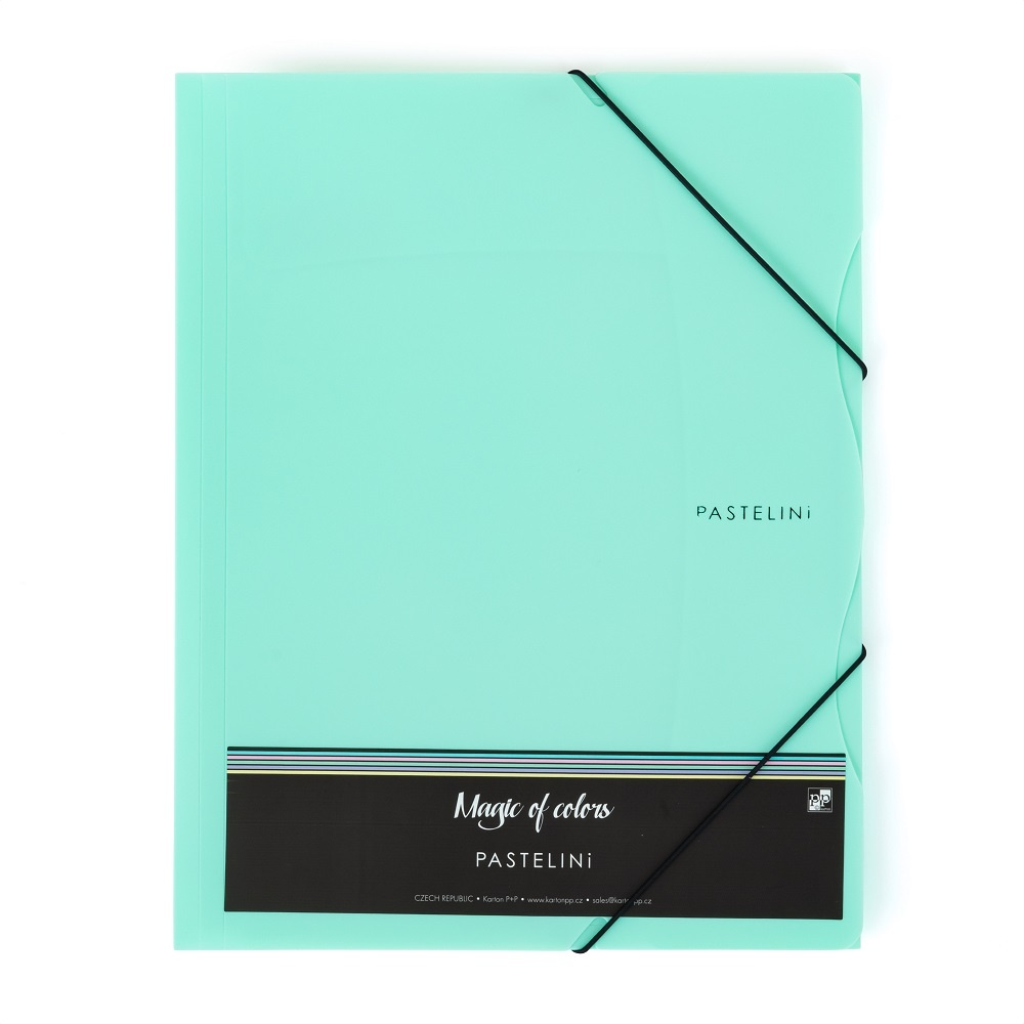 Spisové desky A4 s gumou PASTELINI - zelená