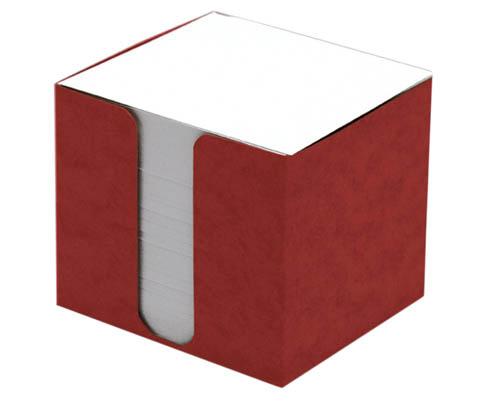 Zásobník na záznamní kostky přešpán - červená