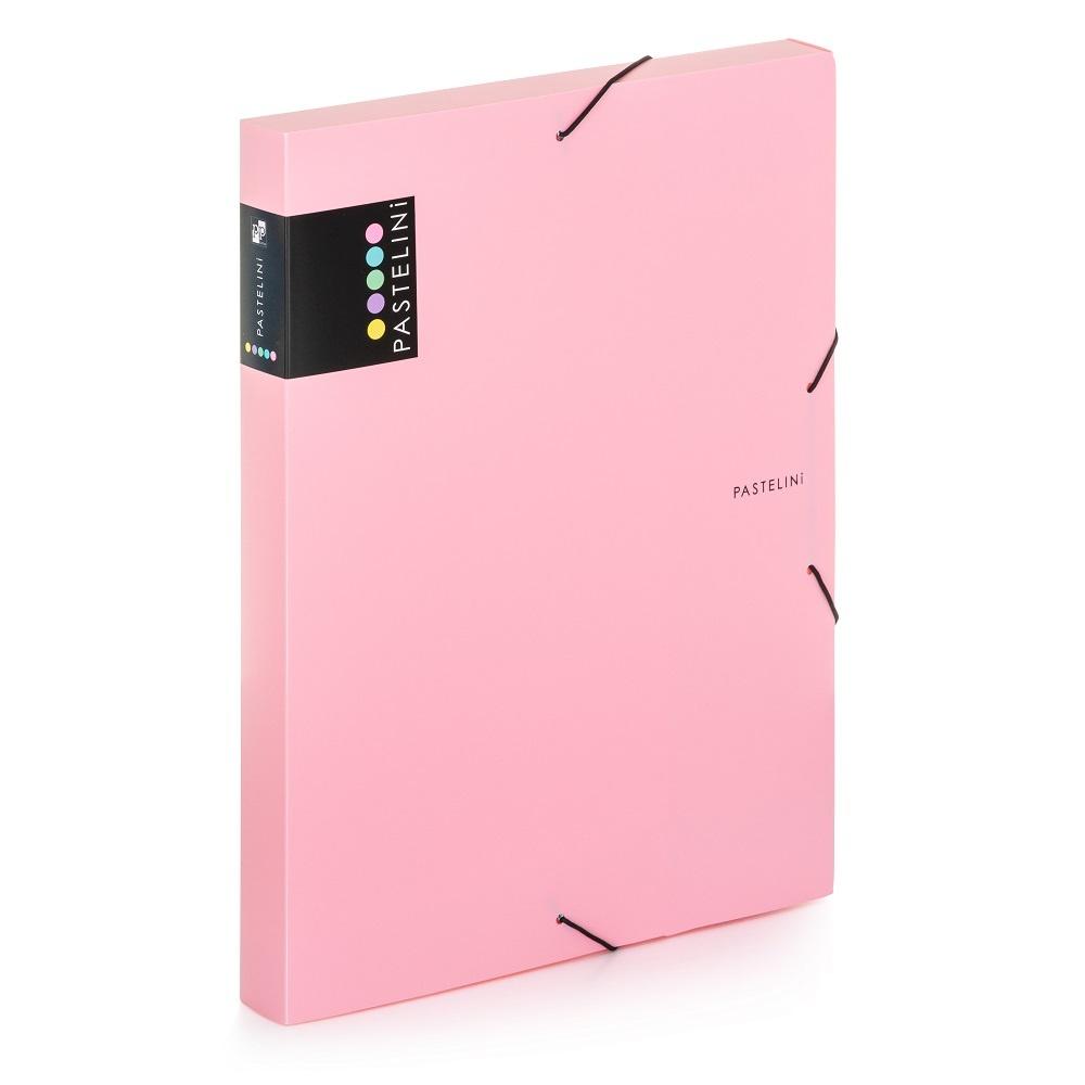 Box na spisy A4 s gumou PASTELINI - růžová