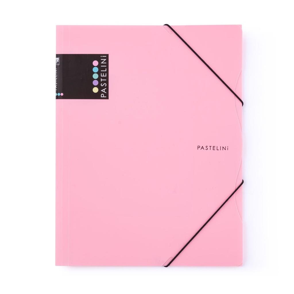 Spisové desky A4 s gumou PASTELINI - růžová