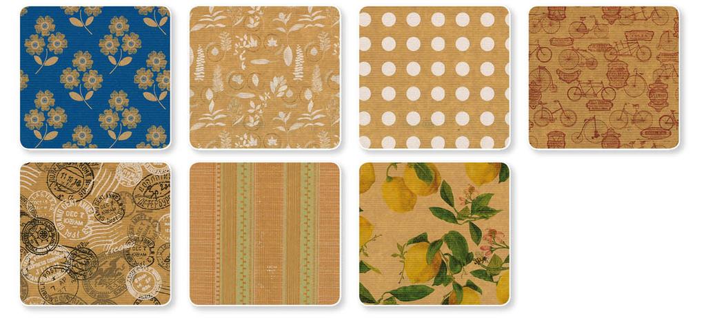 Papíry balicí dárkové - 70 x 200 / Kraft mix