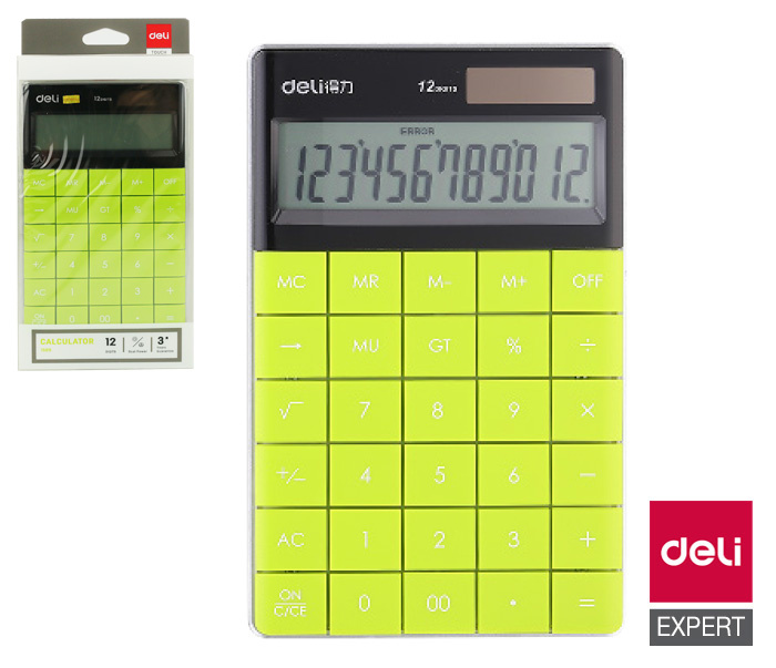 Kalkulačka DELI E1589 - zelená