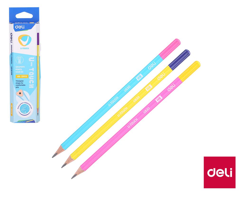 Tužka U-TOUCH DELI - HB / barevný mix