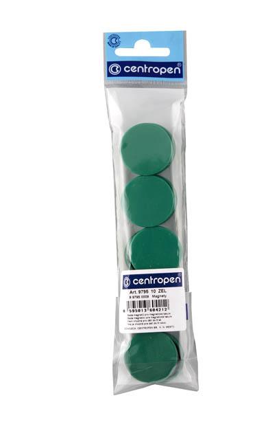 Magnety Centropen - průměr 30 mm / zelená / 10 ks