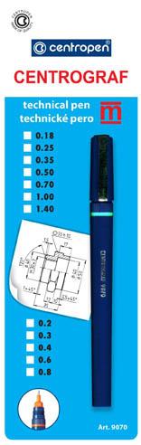 Technická pera Centrograf 9070 - šířka čáry 1,4 mm