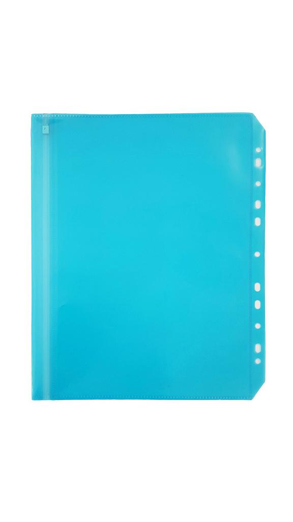 Spisové desky na zip závěsné - A4 / modrá