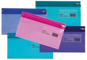 Spisové desky na zip Electra - DL / barevný mix