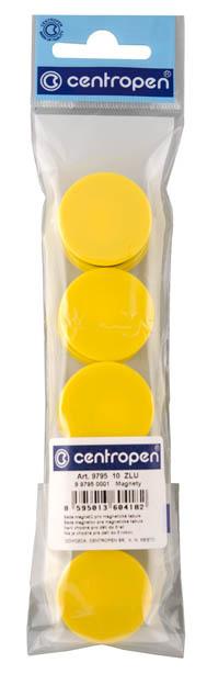 Magnety Centropen - průměr 30 mm / žlutá / 10 ks