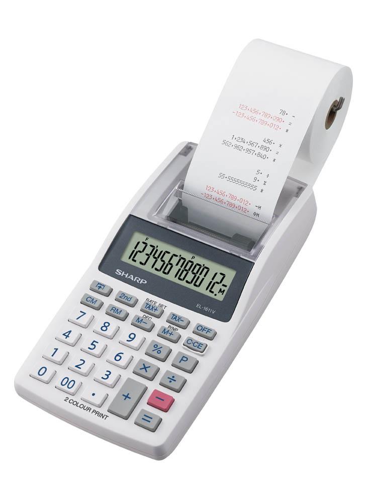 Kalkulačka Sharp EL 1611V - displej 12 míst