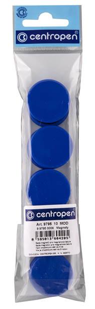Magnety Centropen - průměr 30 mm / modrá / 10 ks