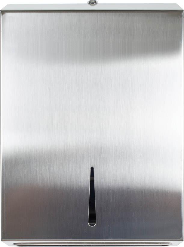 Zásobník na skladáné ručníky ZZ (V) PrimaSOFT NEREZ - Maxi / 380 x 260 x 105 mm