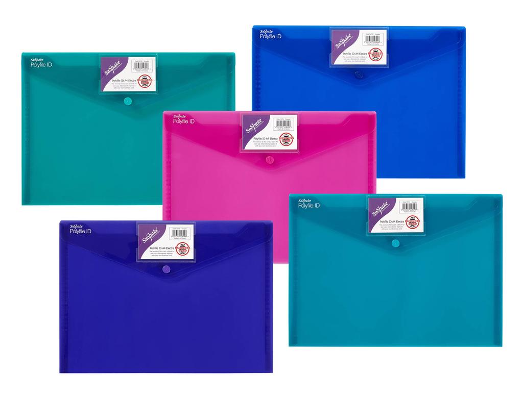 Spisové desky s drukem Electra - A4 / barevný mix