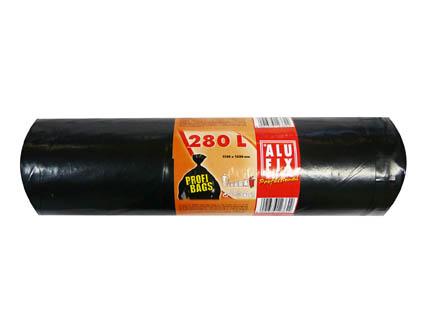 Pytle na odpad černé - 115 x 135 cm / 280 l / 60 my / 5 ks