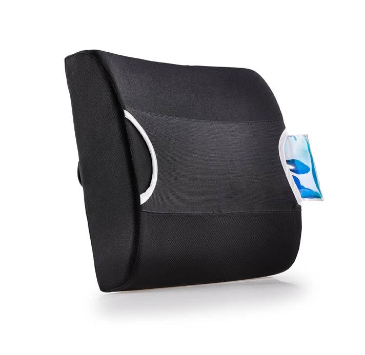 Bederní opěrka s termoobkladem - černá