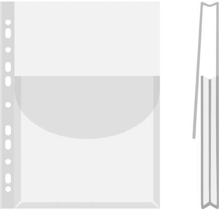 Závěsný obal A4 s rozšířenou kapacitou a klopou - A4 / 12 ks