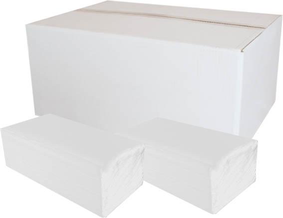 Ručníky papírové skládané Z-Z PrimaSOFT  - ručníky bílé / dvouvrstvé / 150 ks