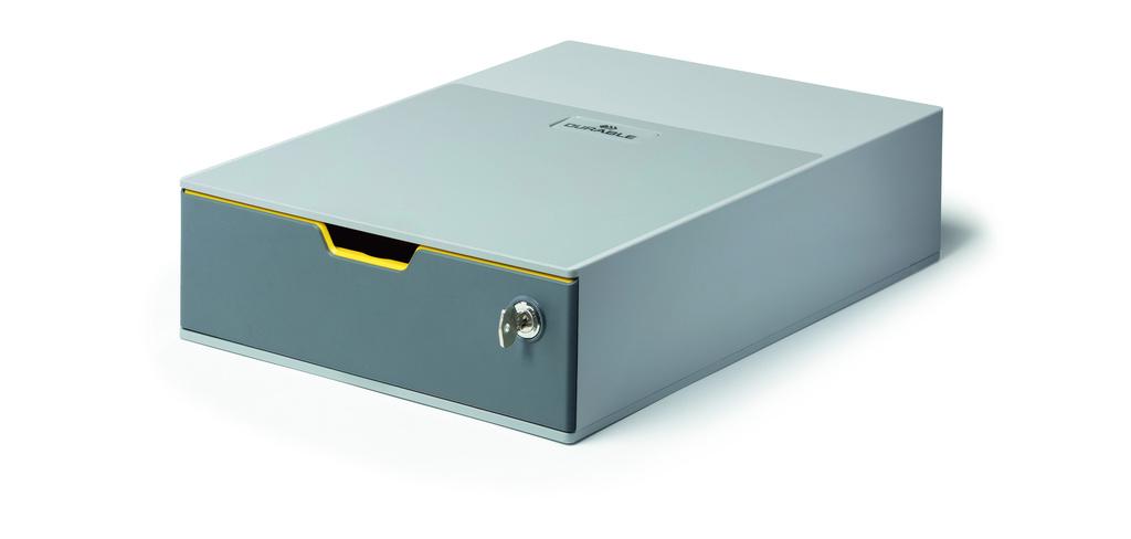 Zásuvkový box VARICOLOR® SAFE - 1 zásuvka + zámek / šedá