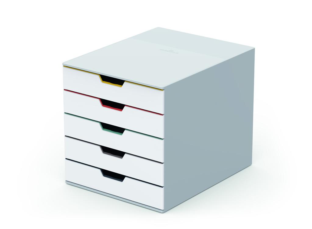 Zásuvkový box VARICOLOR® MIX - 5 zásuvek / bílá